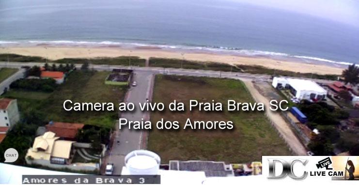Camera ao vivo da Praia Brava SC Amores